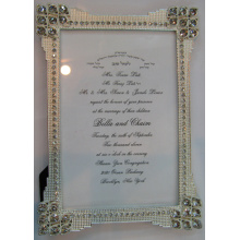 Cristal et diamant 4x6inch alliage Photo Frame