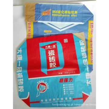 Saco de papel personalizado do cimento de Kraft