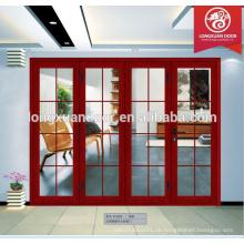 Neueste Designs Innenraum Aluminium Glas Falttüren Panel für den Verkauf