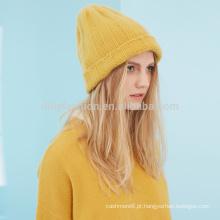 Chapéu de inverno coreano de malha de cashmere de 7G senhoras