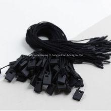 Noir Petites étiquettes vierges pour sacs de vêtements