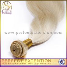 extensión de pelo rubio blanco de 12 pulgadas 100 pelo humano brasileño