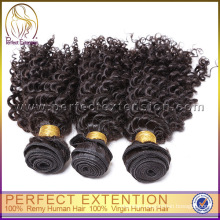 2015 Cheap Human Brazilian Kinky Curly Remy Hair Weave