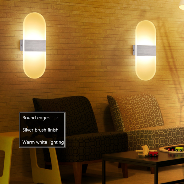Round edges LED Wall Lights
