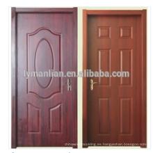 Ceniza natural de 3,0 mm / teca / roble HDF revestimiento de la puerta de chapa