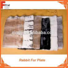 Plaque en fourrure de lapin en cuir souple de qualité supérieure