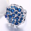 women fashion jewelry set in dubai ring with blue stone white gold diamonds