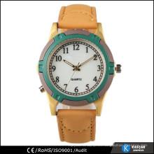Reloj de oro del chapado de los mens barato, reloj interchangeable de la correa