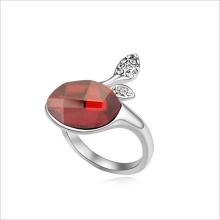VAGULA anillo de boda de diamante de galjanoplastia del rodio de diseño del OEM de fábrica China