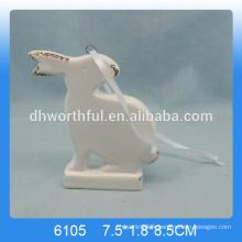 Lovely pendentif en lapin en céramique, pendentif en lapin suspendu