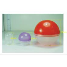 Bola de brinquedo educacional plástico colorido com processo de injeção