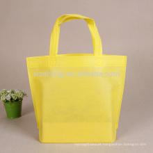 Saco de compras não tecido feito sob encomenda do Tote do logotipo do melhor vendedor com parte inferior nenhum lado