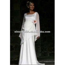 Long Sleeve Empire Pregnant Wedding Gown