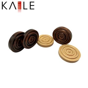 Peças de microplaquetas de gamão de madeira personalizadas profissional