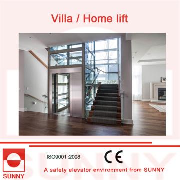 Безопасная эксплуатация, Стабильный качественный винный лифт с полностью закрытой стеклянной крышей, Sn-EV-033