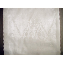 Tissu à rayures de coton blanc pour l'hôtel et le textile à la maison