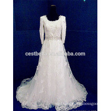 Bridal Gown Long sleeve Lace Muslim Wedding Dress 2016