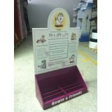 Creative Corrugated Cardboard Counter Display Units With Glossing, Laminating Treatment