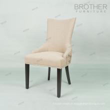 Salle à manger de luxe meubles rembourrés tissu salle à manger chaise pour la maison et l'hôtel