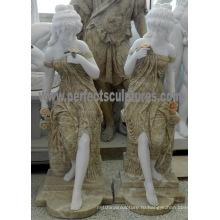 Сад Каменная скульптура для сада орнамент (SY-C1235)