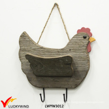 Three Color Hen Shape 2 Hooks Plaque