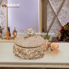 Décoration intérieure en gros caisse de bijoux de luxe de haute qualité caisse utile décorative