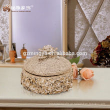 Decoração para casa atacado alta qualidade caixa de jóias de luxo caixa útil decorativa