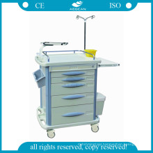 AG-ET007B3 CE ISO ABS plastic emergency hospital laundry trolley