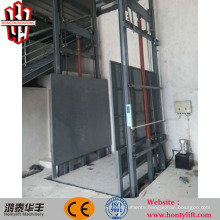 CE lead rail lift warehouse platform lift hydraulic electrical freight elevator