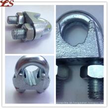 Galvanisierte verformbare DIN741 Drahtseilklemmen