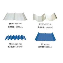 Verarbeitung verschiedener Arten von farbigen Dachpaneelen