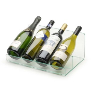 Clear Acrylic Wine Bottle Display Stand Case