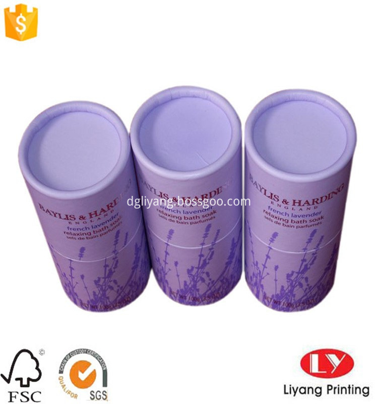 custom round paper tube box for comestic packaging