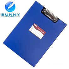 A4 Taille PU / cuir Presse-papiers de couverture avec clip plat