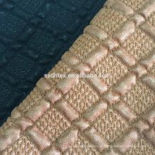 3 camadas estofando tecido bordado com pano de malha