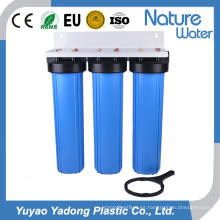 Filtro de agua azul grande de tres etapas de 20 pulgadas