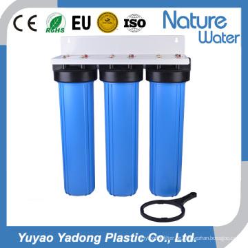 3 Stadium-großer blauer Wasserfilter-industrieller Gebrauch
