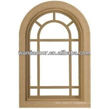 Fenêtres à arc en aluminium Wanjia à prix compétitif