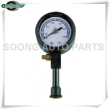 Chrome plating air release valve Dial Metal Tire Gauge with protective rubber casing