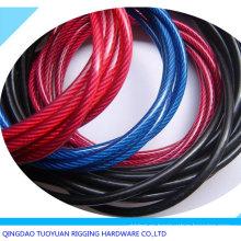 PVC recubierto de cuerda de alambre de acero galvanizado 7 X 7 6mm