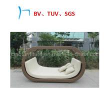 Lit de soleil de loisirs d'hôtel de meubles d'osier de meubles extérieurs (CF1279H)