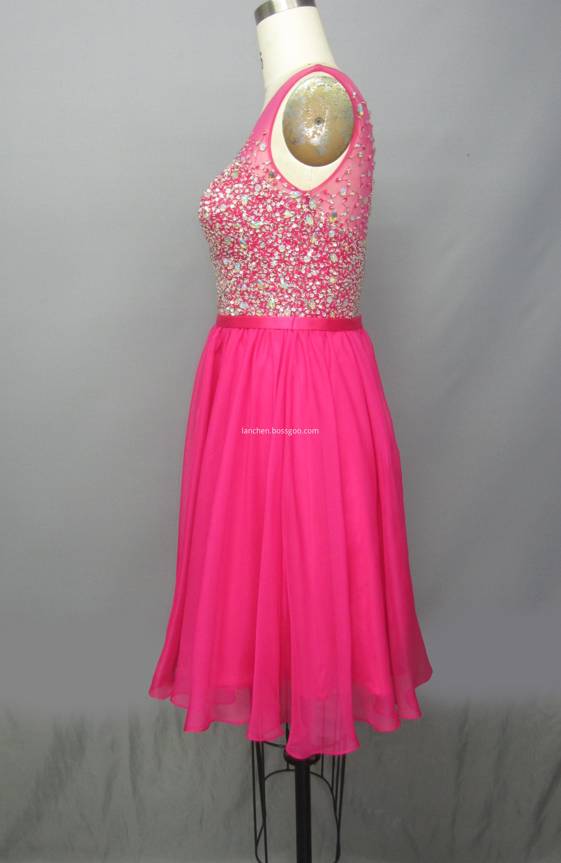 Illusion Short Dress
