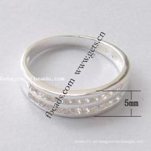 2015 Gets.com 925 anillo de dedo de la flor de plata de doble dedo