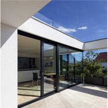 Puertas inclinables y deslizantes de doble acristalamiento de aluminio