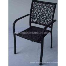 Plein air haute chaise de trou rotin PE retour moderne
