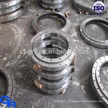 Rolamento de giro de dupla fileira, rolamento de rotação de torreta de concha, rolamento giratório de rotação de precisão