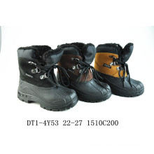 Black Warm Cloth Snow Boots