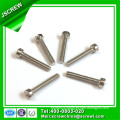 Stainless Steel Cap Head Slotted Recess RoHS Blue Zinc Machine Screw