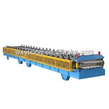 0.3-0.8mm / Voll-Automatik Doppelschicht Rollenformmaschine Hersteller in Wuxi für Wellpappe Profil und Dach Profil