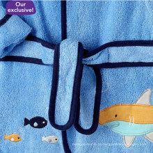 Botinhas de meninos de bebê Pttn tubarão e roupão de banho (dft80801)